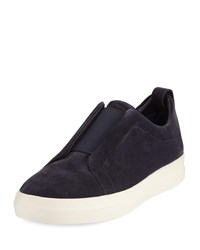 Vince Conway Suede Slip On Sneaker Blue