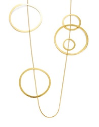 Herve Van Der Straeten Long Circle Station Necklace Gold