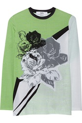 Prabal Gurung Printed Stretch Modal Jersey T Shirt Green