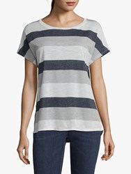 Betty And Co. Striped Top White Blue