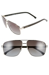 Lacoste 61Mm Metal Navigator Sunglasses Gold Grey Gradient