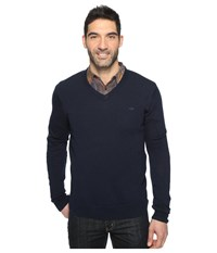 Dockers Premium Merino V Neck Pembroke Men's Clothing White