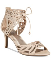 Impo Viddette Lace Up Dress Sandals Women's Shoes Nude