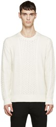 Tiger Of Sweden Cream Cable Knit Watts Sweater