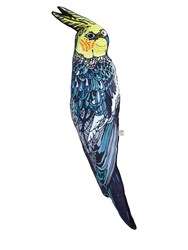 Silken Favours Budgie Shaped Cotton And Silk Pillow