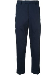 Ck Calvin Klein Tailored Turn Up Trousers Blue