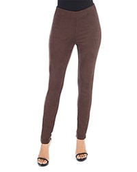 B Collection By Bobeau Roland Faux Suede Leggings Chocolate