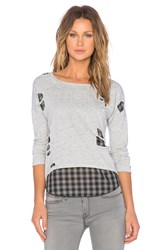 Generation Love Brooklyn Shred Layered Top Gray