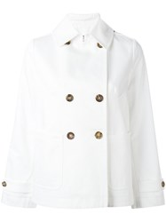 Alberto Biani Boxy Double Breasted Jacket White