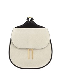 Hayward Vallens Saffiano Leather Backpack White