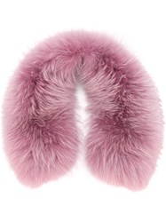 Mr And Mrs Italy Fur Scarf Pink And Purple