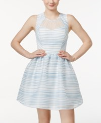 City Triangles City Studios Juniors' Sleeveless Striped Fit And Flare Dress