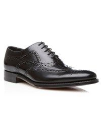 Loake Jones Wingtip Lace Up Brogues Black