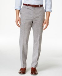 Tasso Elba Men's Island End On End Flat Front Pants Only At Macy's Grey