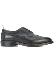 Thom Browne Classic Long Wingtip Brogues Leather 10.5 Black