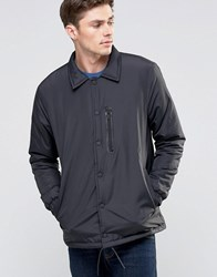 Brave Soul Nylon Button Through Jacket Black