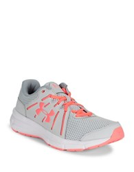 Under Armour Dash Lace Up Leather And Mesh Sneakers