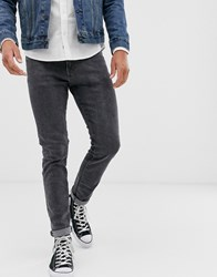 Selected Homme Relaxed Fit Cropped Organic Cotton Jeans In Dark Grey