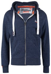 Superdry Orange Label Tracksuit Top Nautical Navy Grit Mottled Blue