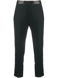 Semicouture Cropped Tailored Trousers Black
