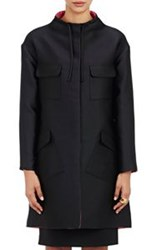 Lisa Perry Reversible Look Out Swing Coat Black Size 2 Us