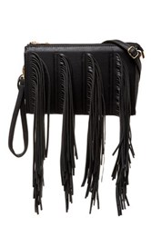 Kiss Me Couture Layered Fringe Crossbody Black
