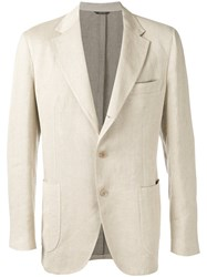 Loro Piana Soft Denim Blazer Nude Neutrals