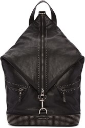 Jimmy Choo Black Studded Leather Fitzroy Backpack