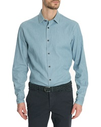 Menlook Label Duncan Bleached Italian Collar Shirt