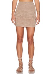 Riller And Fount Daisy Mini Skirt Brown