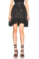 Zimmermann Empire Dot Mini Skirt In Black Geometric Print
