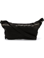 Guidi Small Zip Cross Body Bag Black