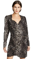 Essentiel Antwerp Troubles Draped Minidress Leopard