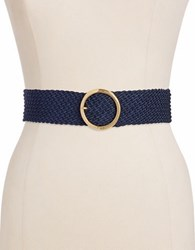 Lauren Ralph Lauren Braided Woven Belt Blue