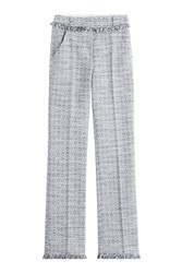 Karl Lagerfeld Cotton Blend Straight Leg Trousers Multicolor