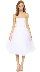 Loyd Ford Strapless Ballet Dress White