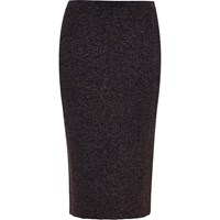 River Island Womens Navy Sparkly Stretch Pencil Skirt