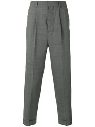 Ami Alexandre Mattiussi High Waisted Pleated Trousers Grey