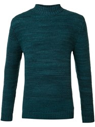 The Elder Statesman Cashmere Crew Neck Jumper Green