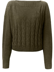 Jean Paul Gaultier Cable Knit Sweater Green