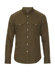 John Varvatos Checked Cotton Shirt