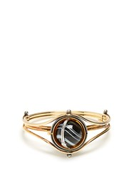 Elie Top Diamond Onyx Silver And Gold Nicolo Bracelet