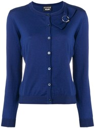 Boutique Moschino Bow Detailed Cardigan Blue