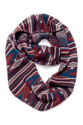 Muk Luks Stripe Fairisle Eternity Scarf Multi