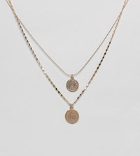 Aldo Adrendavia Layering Coin Charm Necklace In Gold Clear On Gold