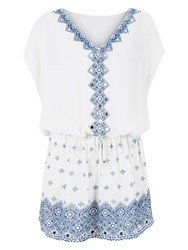 Accessorize Saturn Embroidered Kaftan White