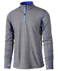 Ideology Id Men's Performance Quarter Zip Top Only At Macy's Grey Heather