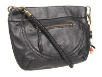 The Sak Indio Leather Demi Black Shoulder Handbags