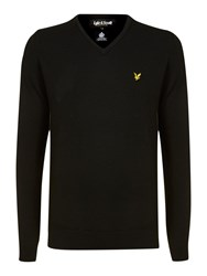 Lyle And Scott Classic V Neck Lambswool Jumper Black