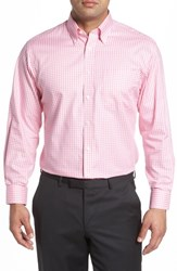 Nordstrom 'S Big And Tall Men's Shop Classic Fit Non Iron Gingham Dress Shirt Pink Aurora
